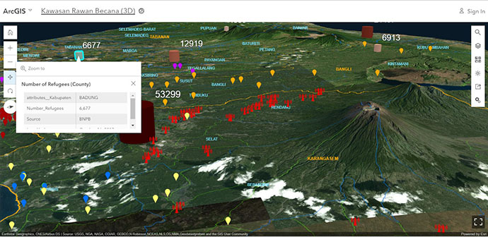 3D smart maps for volcanic activity image