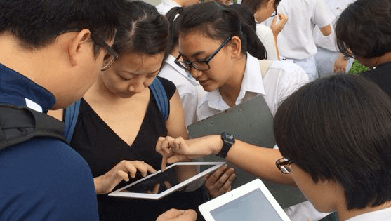 Smart mapping technology being used by STEM students