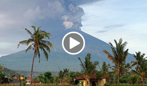 How GIS is used to monitor Mount Agung video